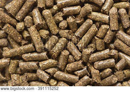 Dry Herbal Animal Feed Pellets Full Frame Coverage