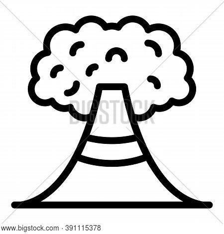 Earthquake Volcano Icon. Outline Earthquake Volcano Vector Icon For Web Design Isolated On White Bac