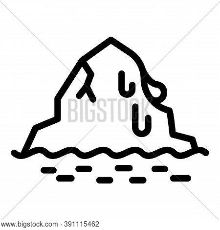 Iceberg Melts Icon. Outline Iceberg Melts Vector Icon For Web Design Isolated On White Background
