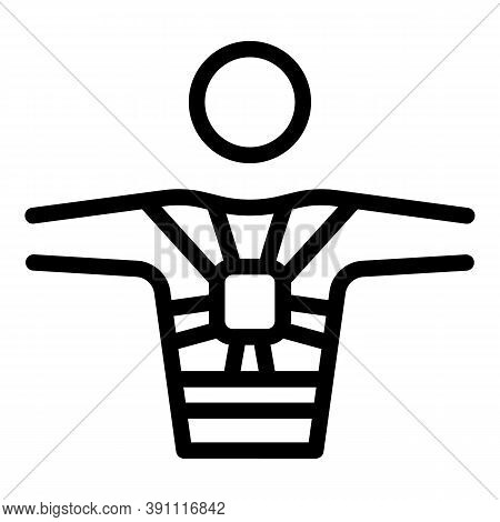 Chest Correction Icon. Outline Chest Correction Vector Icon For Web Design Isolated On White Backgro