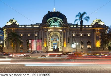 Santiago, Region Metropolitana, Chile - June 07, 2016: The National Museum Of Fine Arts At The Bella
