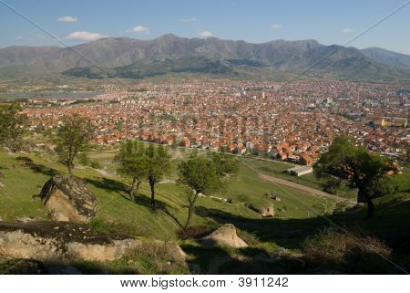 Prilep City View From King \'S Marko Hill