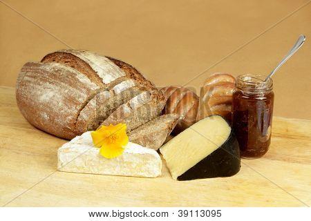 Cheese Board With Rye Bread