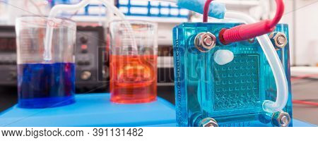 Hydrogen fuel cell, A fuel cell is a device that converts the chemical energy from a fuel into electricity