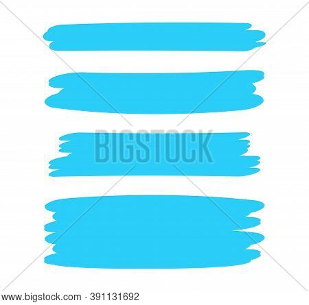 Light Blue Stripes Brush Paint For Scribble Marker, Brushstroke Painting Blue Pastel Soft Color, Lig