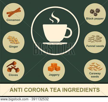 Ayurvedic Immunity Booster Drink, Ayurvedic Kadha Recipe For Cold And Cough, Anti Corona Tea, Herbal