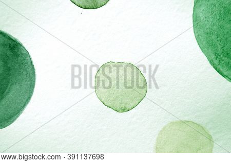 White Scribble Illustration. Watercolor Round Texture. Light Children Painting. Abstract Card Print.