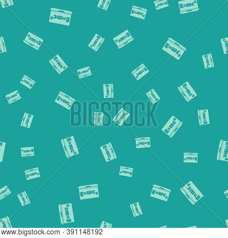 Green Math System Of Equation Solution On Laptop Icon Isolated Seamless Pattern On Green Background.