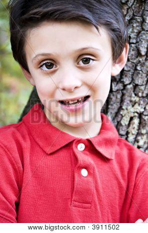Brunette Boy Close-Up