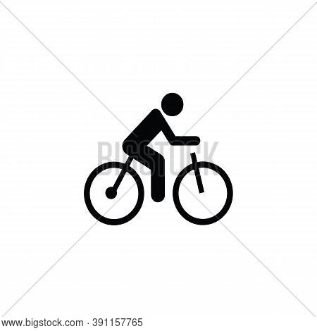 Bicycle Rider Icon Isolated On White Background. Bicycle Rider Icon In Trendy Design Style. Bicycle
