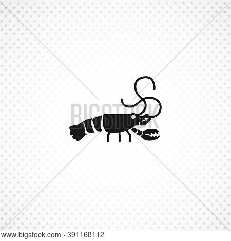 Crayfish Vector Icon On White Background On White Background
