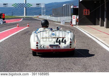 Most, Czech Republic - September 9 2020: Vintage Veteran Car Skoda 1101 Sport From 1949 On September
