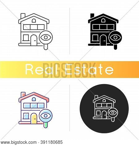 Home Tour Icon. Search For Housing. Look For Home. Residential Property. Discover Real Estate. Poten