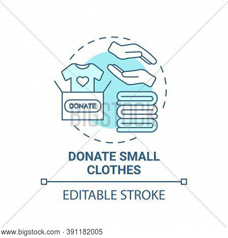 Donate Small Clothes Concept Icon. Body Positivity Tips. Giveaway Old Unused Things. Helping Other P