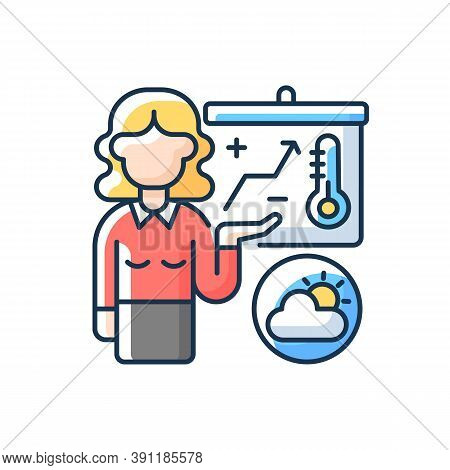 Weather Forecasters Rgb Color Icon. Meteorologist. Atmosphere Conditions. Barometric Pressure. Tempe