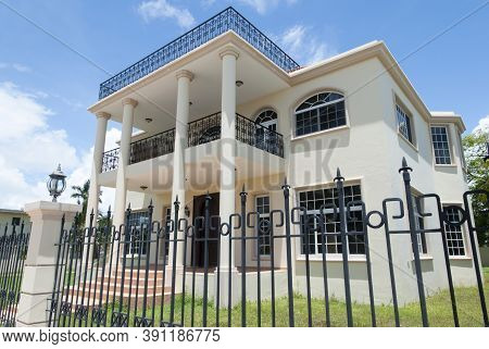 The Two Story Luxury Residential House In Belize City (belize).
