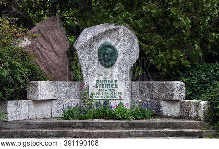 Vienna, Austria - July 30, 2019: Monument To Rudolf Steiner, Austrian Philosopher, Social Reformer,