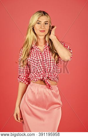 Summer Collection. Attractive Blonde. Fashion And Beauty. Pin Up Style. Vintage And Retro. Hot Desir