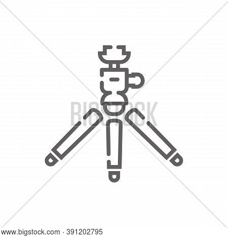 Tripod Icon. Outline Illustration Of Tripod Vector Icon For Web. Web Symbol For Websites And Mobile
