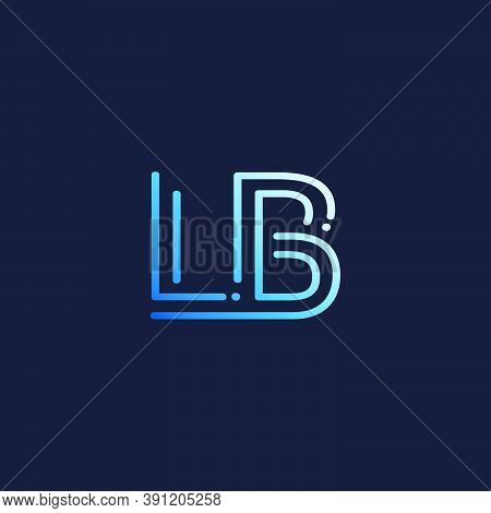 Abstract Techno Line Initial Letter L And B, Lb Logo Icon Vector Design
