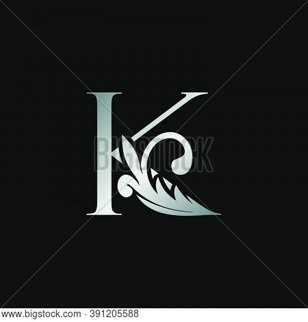 Classy Design Letter K Logo Icon, Vector Design Can Use Monogram Sign Symbol.