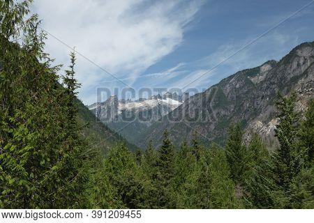 Picket Range Viewed From Ross Lake National Recreation Area, Washington