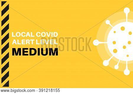 Medium Local Covid Alert Level (tier 1) Vector Illustration