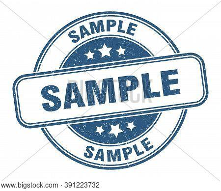 Sample Stamp. Sample Round Grunge Sign. Label