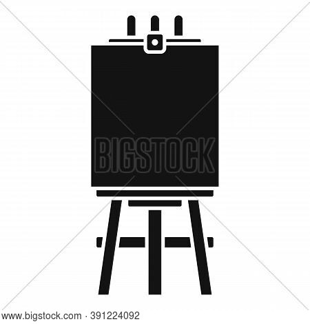 Easel Poster Icon. Simple Illustration Of Easel Poster Vector Icon For Web Design Isolated On White