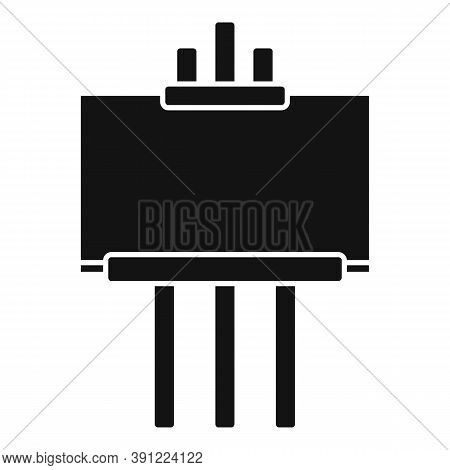 Exhibition Easel Icon. Simple Illustration Of Exhibition Easel Vector Icon For Web Design Isolated O