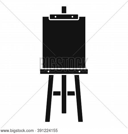 Board Easel Icon. Simple Illustration Of Board Easel Vector Icon For Web Design Isolated On White Ba