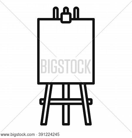 Easel Poster Icon. Outline Easel Poster Vector Icon For Web Design Isolated On White Background