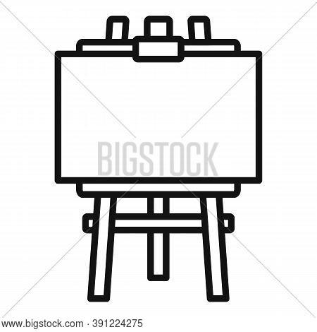 Artist Easel Icon. Outline Artist Easel Vector Icon For Web Design Isolated On White Background
