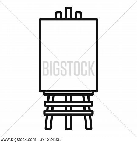 Wood Easel Icon. Outline Wood Easel Vector Icon For Web Design Isolated On White Background