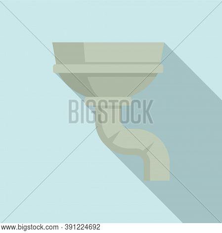 Concrete Gutter Icon. Flat Illustration Of Concrete Gutter Vector Icon For Web Design
