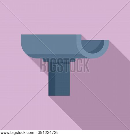 Chute Gutter Icon. Flat Illustration Of Chute Gutter Vector Icon For Web Design