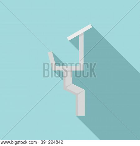 Drainage Gutter Icon. Flat Illustration Of Drainage Gutter Vector Icon For Web Design
