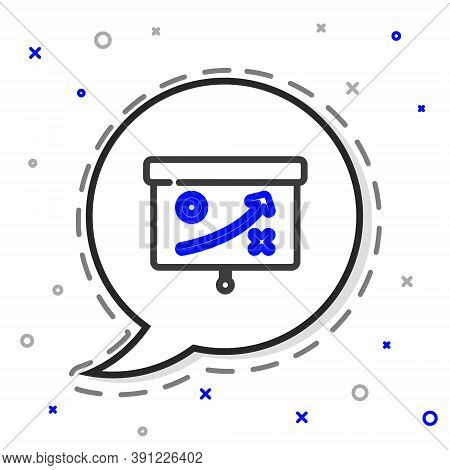 Line Planning Strategy Concept Icon Isolated On White Background. Cup Formation And Tactic. Colorful