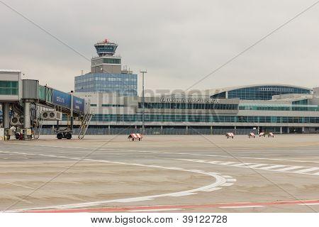 PRAGUE - NOVEMBER 01: Vaclav Havel Airport Prague on November 01, 2012.