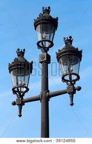 Street Lamp In Barcelona, Spain