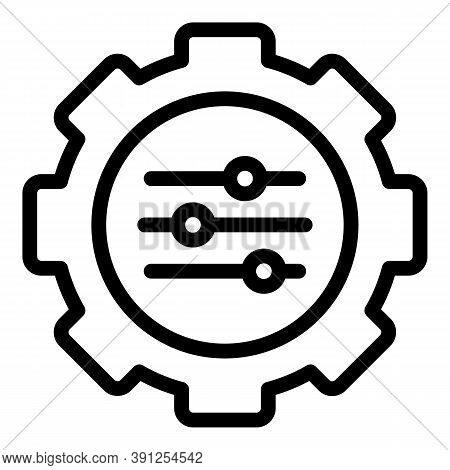 Adaptation Cog Icon. Outline Adaptation Cog Vector Icon For Web Design Isolated On White Background