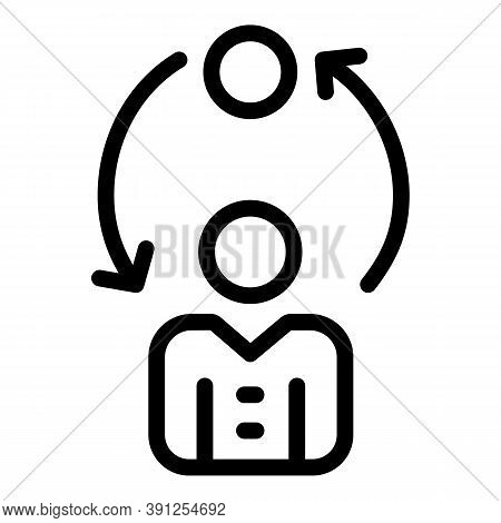 Personal Adaptation Icon. Outline Personal Adaptation Vector Icon For Web Design Isolated On White B