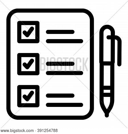 Clipboard Request Icon. Outline Clipboard Request Vector Icon For Web Design Isolated On White Backg