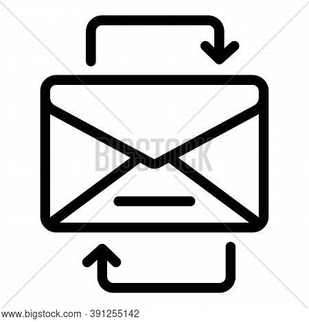 Change Mail Request Icon. Outline Change Mail Request Vector Icon For Web Design Isolated On White B