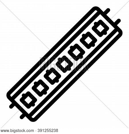 Led Strip Chip Icon. Outline Led Strip Chip Vector Icon For Web Design Isolated On White Background
