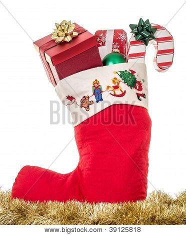 Christmas Stocking full of gifts
