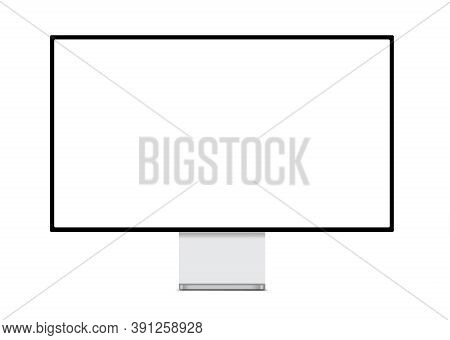 Modern Computer Professional Large Monitor On A White Background. 3d Illustration.