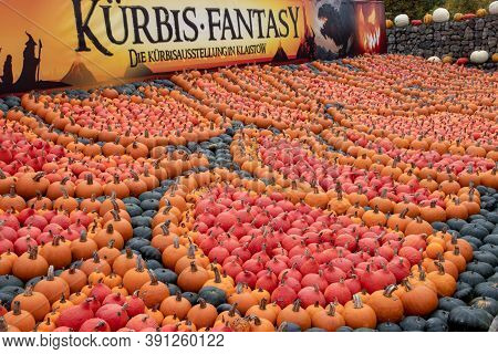 Klaistow, Germany - 22 October 2020: Berlin-brandenburg's Largest Pumpkin Exhibition In 2020 Is Them