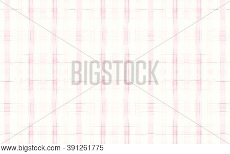 Kids Pajama Pattern. Wool Seamless Plaid Material. Watercolour Squares For Man Print. Pink Elegant P