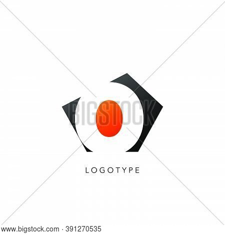 Initial Letter O Logo Icon Design. Vector Design Concept Abstract Techno Geometrical Shape With Nega
